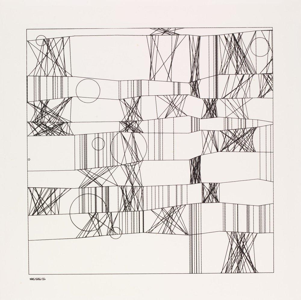 Hommage à Paul Klee - Frieder Nake, 1965